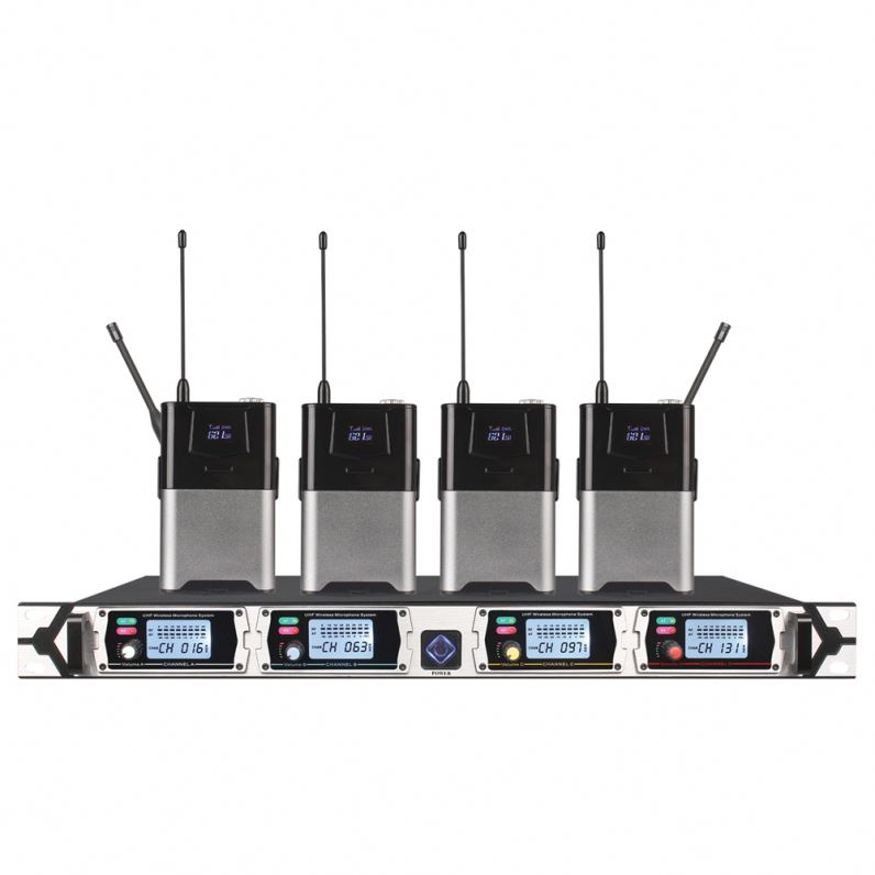 TIWA UHF 4 canales Handheld Wireless Microfone System Cordless Mic Professional para el canto de karaoke
